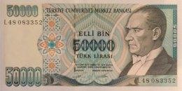 Turkey 50.000 Lirasi, P-204 (L.1970) - UNC - Türkei
