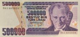 Turkey 500.000 Lirasi, P-212 (1998) - UNC - Türkei