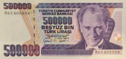 Turkey 500.000 Lirasi, P-212 (1998) - UNC - Turquie