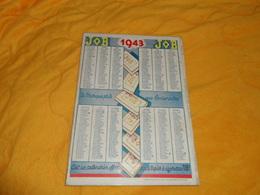 CALENDRIER CARTONNE PUBLICITAIRE DE 1943. / PAPIER A CIGARETTES JOB. - Calendars
