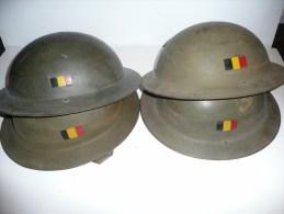 """Casque Belge TOMMY MK 2 """" Plat à Barbe """" ( Fabrication Entre 1944 Et 1946 ) - Headpieces, Headdresses"""