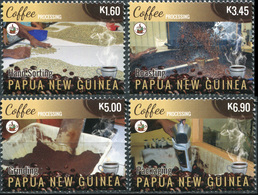 Papua New Guinea. 2018. Coffee Industry In Papua New Guinea (smell Of Coffee) (MNH OG **) Set Of 4 Stamps - Papouasie-Nouvelle-Guinée
