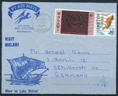 Malawi - Michel 94, 107 Auf Flugpost Briefteil - Dekorativ - Songbirds & Tree Dwellers
