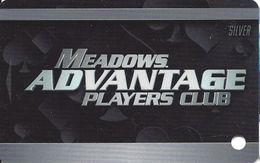 Meadows Casino - Washington, PA USA - BLANK Silver Slot Card - Casino Cards