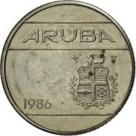 Monnaie, Aruba, Beatrix, 10 Cents, 1986, Utrecht, TTB, Nickel Bonded Steel, KM:2 - Antilles Neérlandaises