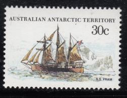 Australian Antarctic Territory 1974-81 MNH Scott #L46 30c S.S. Fram - Ships - Neufs
