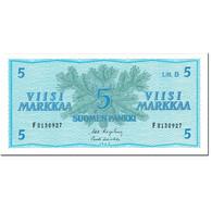 Billet, Finlande, 5 Markkaa, 1963, 1963-04-25, KM:99a, NEUF - Finlande