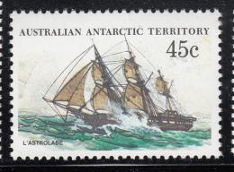 Australian Antarctic Territory 1974-81 MNH Scott #L49 45c L'Astrolabe - Ships - Unused Stamps