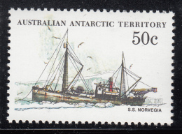 Australian Antarctic Territory 1974-81 MNH Scott #L50 50c S.S. Norvegia - Ships - Neufs