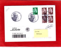 Marianne L'engagée LV (0,80 €) + 4 X 0,10 € /  Lettre Suivie Circulé / Obl PJ 20/07/18  / Signé Catelin - Frankreich