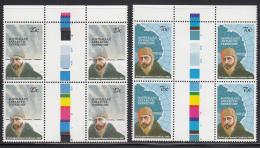 Australian Antarctic Territory 1982 MNH Scott #L53-#L54 Sir Douglas Mawson Set Of 2 Gutter Blocks Of 4 - Neufs