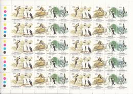 Australian Antarctic Territory 1983 MNH Scott #L55 Wildlife Complete Sheet Of 20 Strips - Neufs