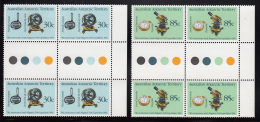 Australian Antarctic Territory 1984 MNH Scott #L57-#L58 South Pole Expedition 75th Set Of 2 Gutter Bocks - Neufs
