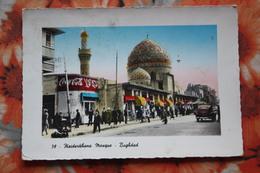 Iraq BAGHDAD Al Rashid Street Old Cars Old Postcard COCA COLA ADVERT - Iraq