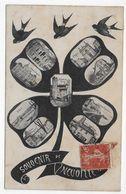 (RECTO / VERSO) NEUVILLE EN 1906 - SOUVENIR - MULTIVUES - CPA VOYAGEE - Neuville Sur Saone