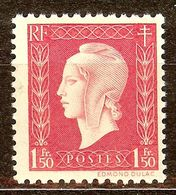 SUPERBE MARIANNE De DULAC N°691 1F50 Groseille NEUF Avec GOMME** - 1944-45 Marianne Of Dulac