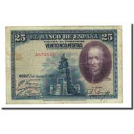 Billet, Espagne, 25 Pesetas, 1928-08-15, KM:74a, TB - 1-2-5-25 Pesetas