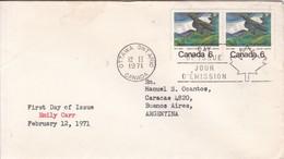 EMILY CARR. FDC CANADA CIRCULEE OTTAWA TO BUENOS AIRES CIRCA 1971.- BLEUP - 1971-1980