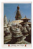 Népal --Greeting From Nepal --NAMASTE --- Timbres . Cachet - Népal