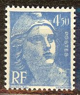 SUPERBE MARIANNE De GANDON N°718A 4F50 Bleu NEUF Avec GOMME** - 1945-54 Marianne De Gandon