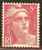 SUPERBE MARIANNE De GANDON N°719A 5F Rose NEUF Avec GOMME** - 1945-54 Marianne De Gandon