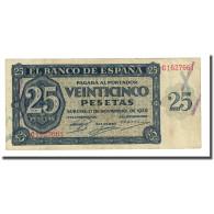 Billet, Espagne, 25 Pesetas, 1936-11-21, KM:99a, TTB+ - [ 2] 1931-1936 : Repubblica