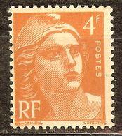 SUPERBE MARIANNE De GANDON N°808 4F Orange NEUF Avec GOMME** - 1945-54 Marianne De Gandon