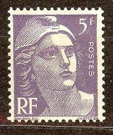 SUPERBE MARIANNE De GANDON N°883 5F Violet NEUF Avec GOMME** - 1945-54 Marianne De Gandon