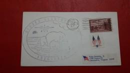 L'Alaska Enveloppe Barrow Circulé 1975 Avec Image D'ours Polaire - Stations Scientifiques & Stations Dérivantes Arctiques