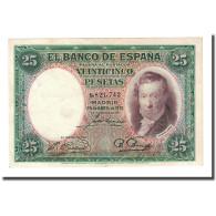 Billet, Espagne, 25 Pesetas, 1931-04-25, KM:81, SPL - [ 2] 1931-1936 : Repubblica