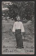 BU17) Burmese Girl - Posted 1906 - Myanmar (Burma)