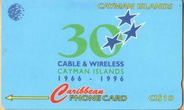 Cayman Island - CAY-94C, GPT, 94CCIC, 30 Years, 10$, 35.000ex, 1996, Used - Cayman Islands