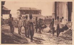 Haiti, Presidential Decree Announced In Streets By Drums, Troops, Horn, C1910s Postcard - Haiti