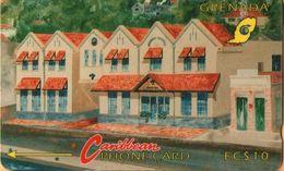 Grenada - GRE-4B, GPT, 4CGRB, Grentel Building (Without Logo), 10 EC$, 5,250ex,  1992, Used - Grenada