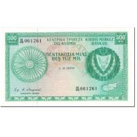 Billet, Chypre, 500 Mils, 1979, 1979-09-01, KM:42c, NEUF - Chypre