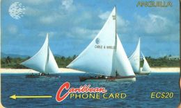 Anguilla - ANG-5B, GPT, 5CAGB, Sailing Ship, 20 EC$, 5,000ex, 1995, Used - Anguilla