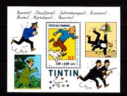 F. 2000 BF 28 / 3304, Neuf**  Tintin, Milou, Haddock, Tournesol, Hergé - Sheetlets