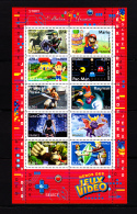 F. 2005 BF 91 / 3842/3851, Neuf**  Collection Jeunesse, Héros Des Jeux Vidéo - Blocs & Feuillets
