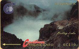 Dominica - DOM-3A, GPT, 3CDMA, Boiling Lake, 10 EC$, 35,000ex, 1990, Used - Dominica