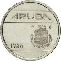Monnaie, Aruba, Beatrix, 5 Cents, 1986, Utrecht, TTB, Nickel Bonded Steel, KM:1 - Antilles Neérlandaises
