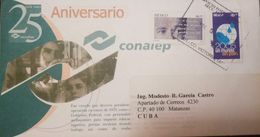 L) 2004 MEXICO, 50 YEAR PEDRO PANAMA, 2005 A WORLD WITHOUT POLIO, 25 YEARS CONALEP, CIRCULATED COVER FROM MEXICO TO CARI - Mexico