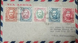 O) 1947 PARAGUAY, MULTIPLE COVER MARSHAL FRANCISCO SOLANO, SCOTT AP 114, AIRMAIL TO U - Paraguay