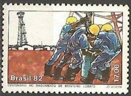 LSJP BRAZIL 100 YEARS MONTEIRO LOBATO WRITER PETROLEUM 1982 - Neufs