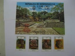 Honduras 1978 World Cup Football SC#C642-645, And  Also Overprinted In Red For C619 - Honduras