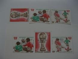 Gabon 1978 World Cup Football SC#C210-212,C212a Overprinted - Gabon