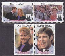 ST. LUCIA  839-40  **  ROYAL  WEDDING  FERGIE - St.Lucia (1979-...)