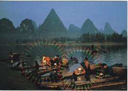 China  Fishing At Yangshuo - China