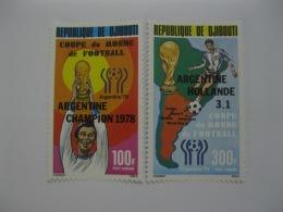 Djibouti 1978  World Cup Football SC#C117-118 Overprinted - Djibouti (1977-...)