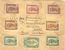1906- Enveloppe RECC.  De NOLA / CONGO FRANCAIS  Affr. Petites Valeurs  Pour Provins ( Seine Et Marne ) - Congo Français (1891-1960)