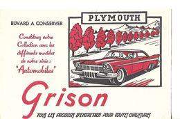 Buvard GRISON / Entretien Des Chaussures / Collection Automobiles PLYMOUTH - Wash & Clean